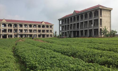 Trường học hàng chục tỷ bỏ hoang giữa đồng