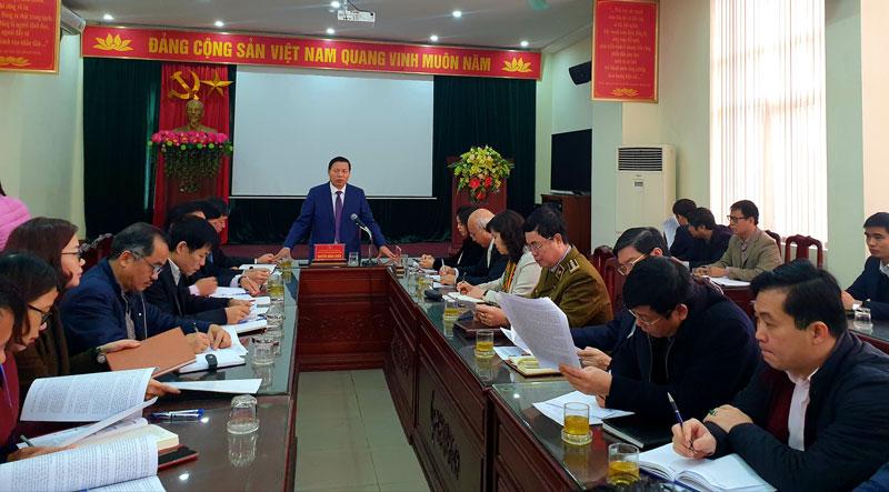 Thường trực Tỉnh ủy Bắc Ninh làm việc với Sở Công thương