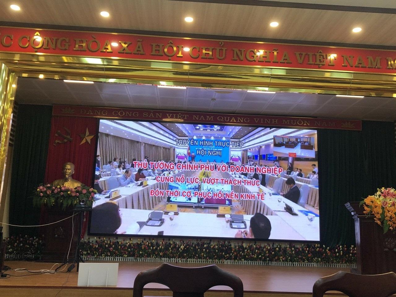 Doanh nghiệp Hiệp hội DNNVV tỉnh Bắc Ninh tham dự Hội nghị trực tuyến của Thủ tướng Chính phủ