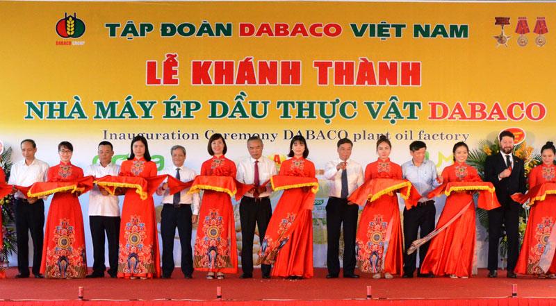 Tập đoàn DABACO Việt Nam khánh thành Nhà máy dầu thực vật công suất 45 triệu lít/năm