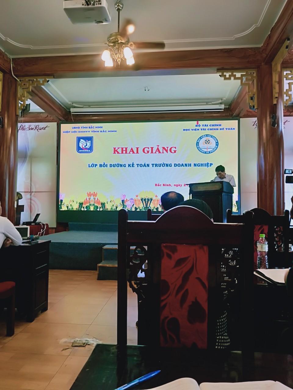 Hiệp hội DNNVV tỉnh Bắc Ninh khai giảng lớp bồi dưỡng Kế toán trưởng doanh nghiệp năm 2019
