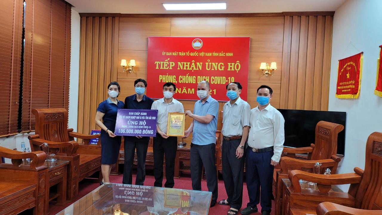 Hiệp hội Doanh nghiệp nhỏ và vừa tỉnh Bắc Ninh chung tay phòng, chống dịch Covid-19